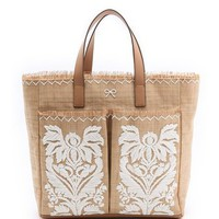 Anya Hindmarch Nevis Tote with Raffia | SHOPBOP