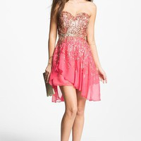 Sherri Hill Embellished Sweetheart Silk Chiffon Dress (Online Exclusive) | Nordstrom