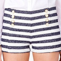 Striped Boucl Shorts | FOREVER 21 - 2023312451