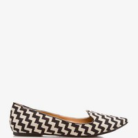 Chevron Satin Loafers