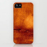 brown wall iPhone Case by agnes Trachet