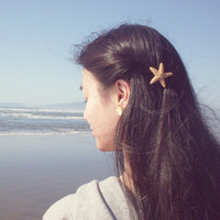 Buy One Get One Free Sale - Starfish Barrette Starfish Hair Accessories Mermaid Hair Accessories Beach Boho Cute Adorable Romantic Whimsical