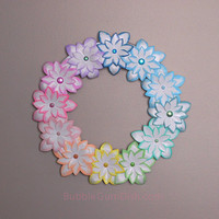 Pastel Rainbow Easter Wreath Paper Flower 12 inch Easter Decor Spring Decor