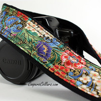 Floral dSLR Camera Strap, Florentine, Gold Filligree SLR