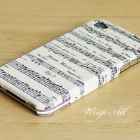 Music notes iPhone 4 case / Music iPhone 4s case/ Music note  iPhone 4s / Music iPhone cover