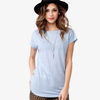Scoop Back Linen Top
