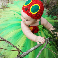 The Hungry Caterpillar & Hat- Birthday, Halloween, Costume, Pageant, baby girl, infant, toddler, child