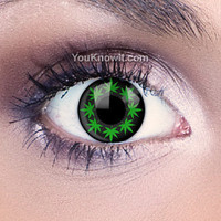Multi Cannabis Leaf Contact Lenses | Coloured Contact Lenses