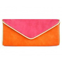 Orange Angie Clutch