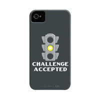 Challenge Accepted Stoplight Phone Case | SnorgTees