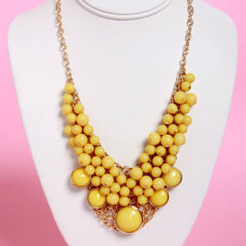 Bubble Vision Yellow Statement Necklace
