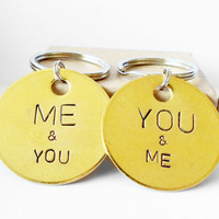 Personalized Keychain Key Ring couples gift bff best friends wedding anniversary boyfriend girlfriend wife husband