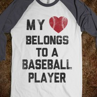 My Heart Belongs To A Baseball Player - Sports Fun