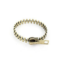 Zip Retro Metal Bracelet