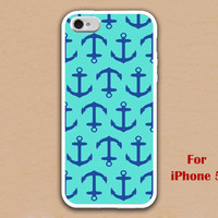 iPhone 5 Case Nautical Anchor iphone 5 case mint by belindawen