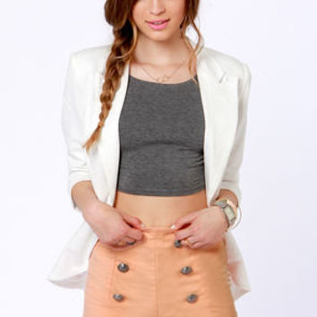 Lost Pinky Peach High-Waisted Shorts