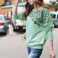 LADIES CHEETAH PRINT STYLISH TOP