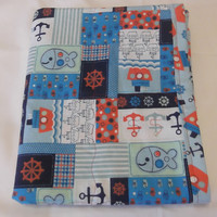 Nautical Baby Blanket, Nautical Baby Bedding, Nautical Crib Bedding