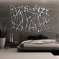 Art Nouveau Web TRIO in Brushed Aluminum FREE by studio724 on Etsy