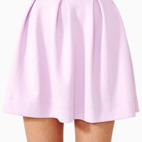 Scuba Skater Skirt - Lilac