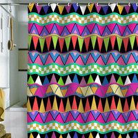 Bianca Green Zig Zag Shower Curtain