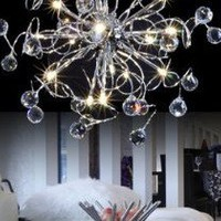 LightInTheBox Crystal Floral 15-light Iron Chandelier(0942-98002-D-15)
