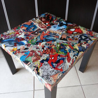 Spiderman Comic Collage Table FREE SHIPPING USA