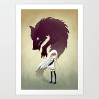 Werewolf Art Print by Freeminds