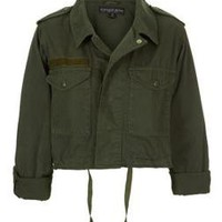 Petite Cropped Army Jacket - Clothing - Topshop