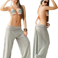 Desert Tan Beach, Pool or Resort Wear Lace Pants
