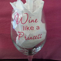 Wine Like A Princess Decals by TheCraftyGeek86 on Etsy