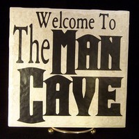 Man Cave 6x6 Decal by TheCraftyGeek86 on Etsy