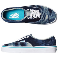 VANS WOMENS AUTHENTIC SHOE - ACID DENIM BLUE