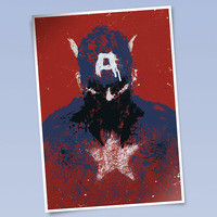 Captain America art print (420 x 297mm)