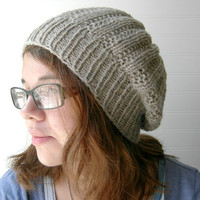 Knit Winter Hat Wicker Park Slouch CUSTOM KNIT by WindyCityKnits