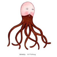 $18.00 Beard Octopus Art Print by Marc Johns | Society6