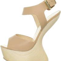 Giuseppe Zanotti Women&#x27;s E20377 Asymetrical Wood Sandal