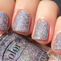 ★Color Club★ Sugarplum Fairy -Lavender Holo Holographic Glitter Nail Polish