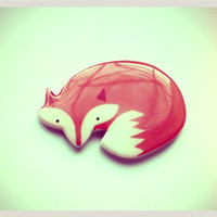 Free shipping Brooch - animal brooch-cute fox