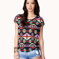 Multicolored Ganado Print Top