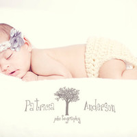 Petite Flower Halo Newborn Photo Prop by iaFlowerPower on Etsy