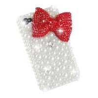 Amazon.com: Top-Store New Classic Bling Red Bownot Full Pearls Diamond Crystal Hard Case Cover for Iphone 4 / 4s / 4g: Cell Phones & Accessories