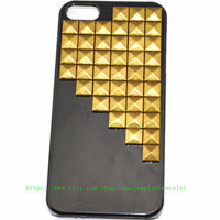 iPhone 5 Case with bronze pyramid stud For iPhone 5 Case, iPhone hand case cover  d-13