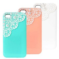 Lace with Pearl Case iPhone 4/4S [222]
