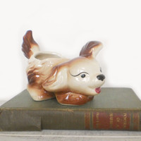Puppy Dog Planter Kitschy Home Decor for by RhettDidntGiveADamn