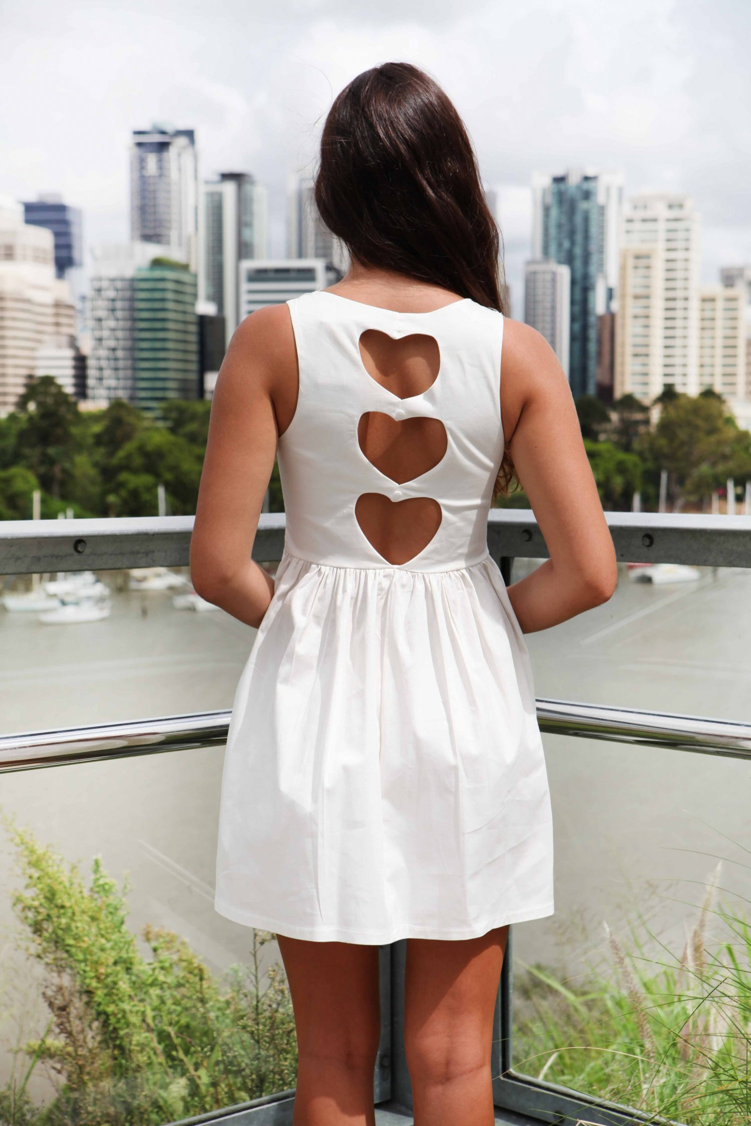 Displaying 19> Images For - White Cut Out Back Dress...