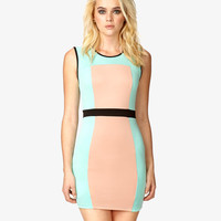 Colorblocked Bodycon Dress