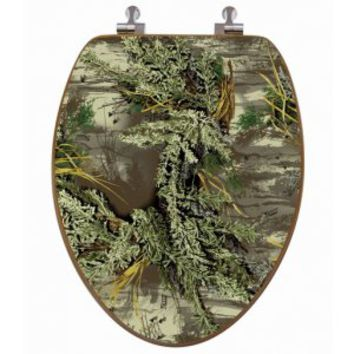 realtree camo oak wood toilet seat cover from realtree