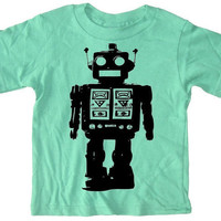 Robot T Shirt for toddlers and kids Futuristic by happyfamily
