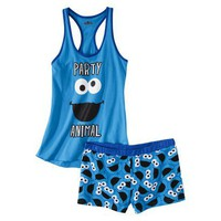Target : Sesame Street® Junior's Tank & Short Sleep Set - Cookie Monster